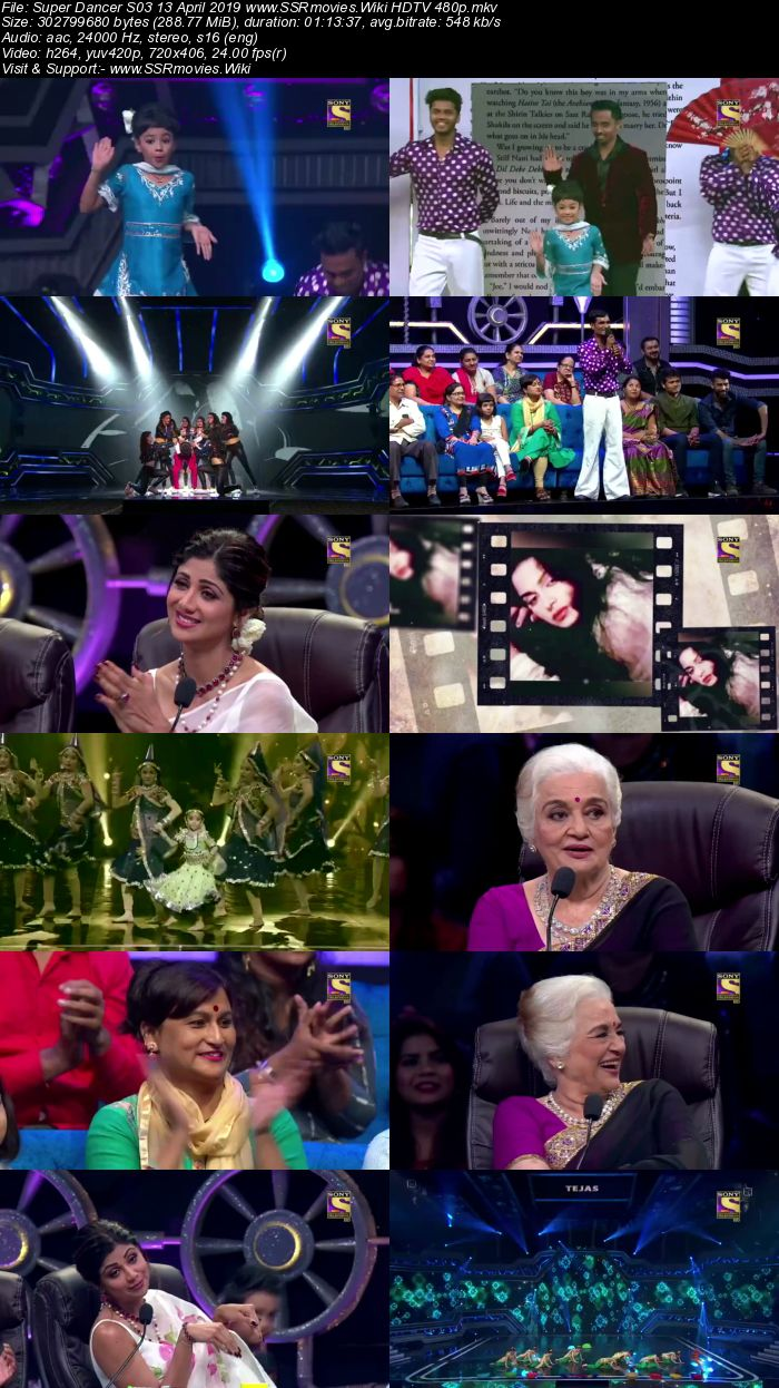 Super Dancer S03 13 April 2019 HDTV 480p Full Show Download