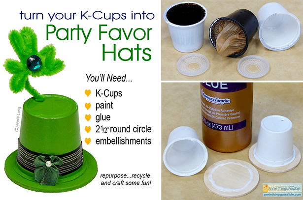 Annie Lang shows you how to easily recycle or repurpose k-cups to create clever little hats to use for a variety of events.