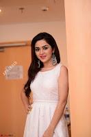 Ragini in Beautiful Cream Sleeveless Gown Perfect makeup ~  Exclusive 003.jpg