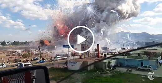 This Is The Moment When Massive Explosions Destroy A Fireworks Market In Mexico