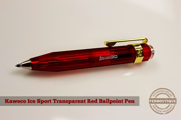 Kaweco Ice Sport Red Transparent Ballpoint Pen