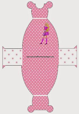 Barbie Princess School Free Printable Dress Box.