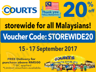 Courts Online Store Malaysia Day Storewide Discount Voucher Code Promo
