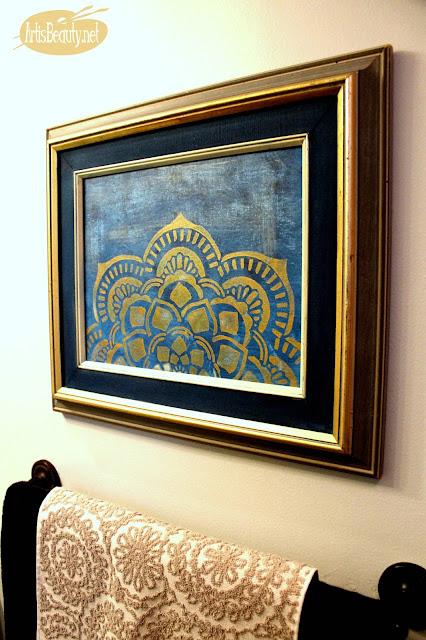 easy diy mandala artwork boho chic painting canvas bohemian eclectic decor