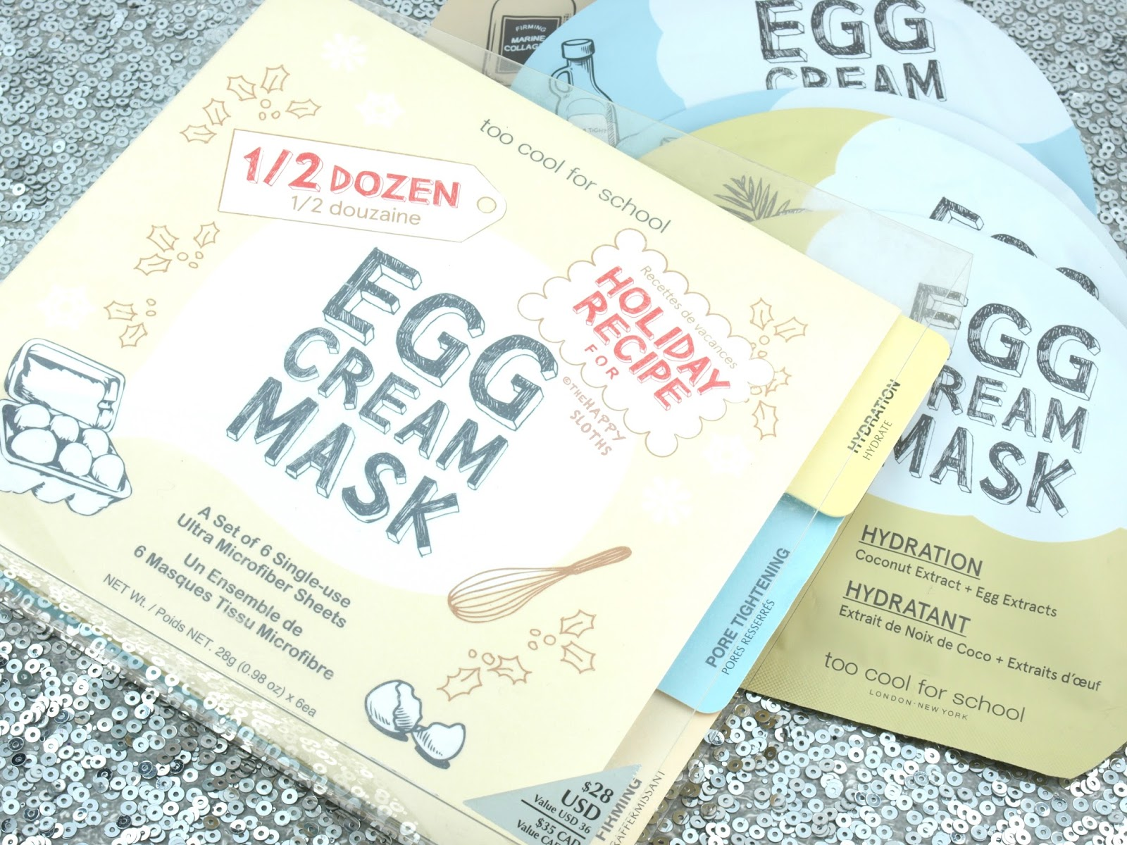 Too Cool for School 1/2 Dozen Egg Cream Mask Set