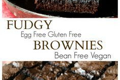 FUDGY GLUTEN FREE EGG FREE BROWNIES