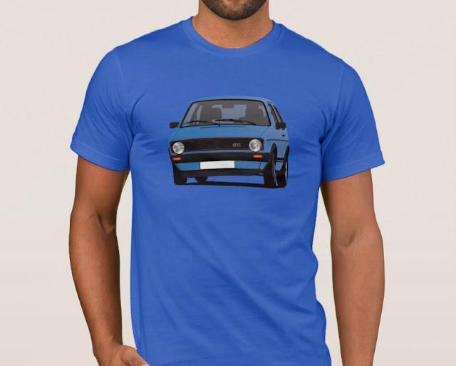 Blue Golf GTI i - blue - car T-shirt