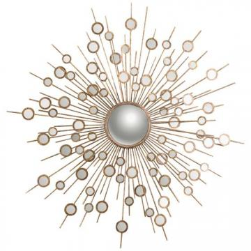 This groovy circle mirror's interesting design is 60s inspired.