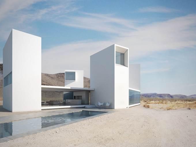 Rumah Minimalis Dengan Rekaan Yang Unik Ini Direka Oleh Edward Ogosta Archiecture Terletak Di Coachella Valley Calfiornia Ciri Menarik Perhatian