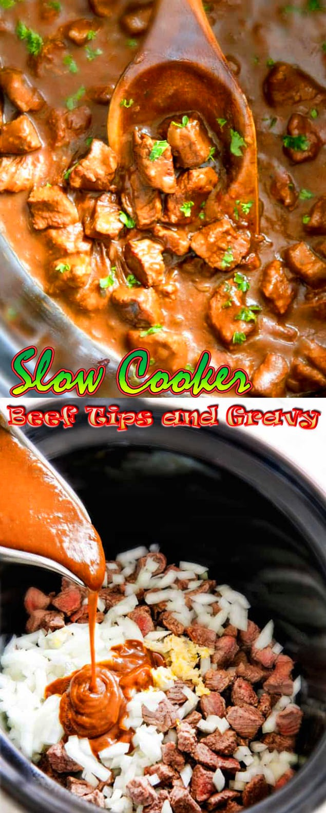 Slow Cooker Beef Tips and Gravy Recipe