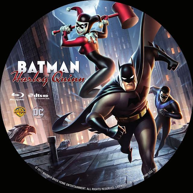 Batman And Harley Quinn Bluray Label