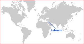 Gambar Peta letak Lebanon