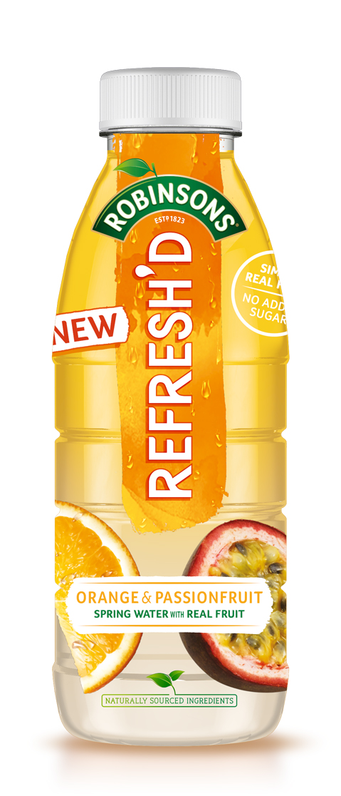 Robinsons Orange and Passionfruit water