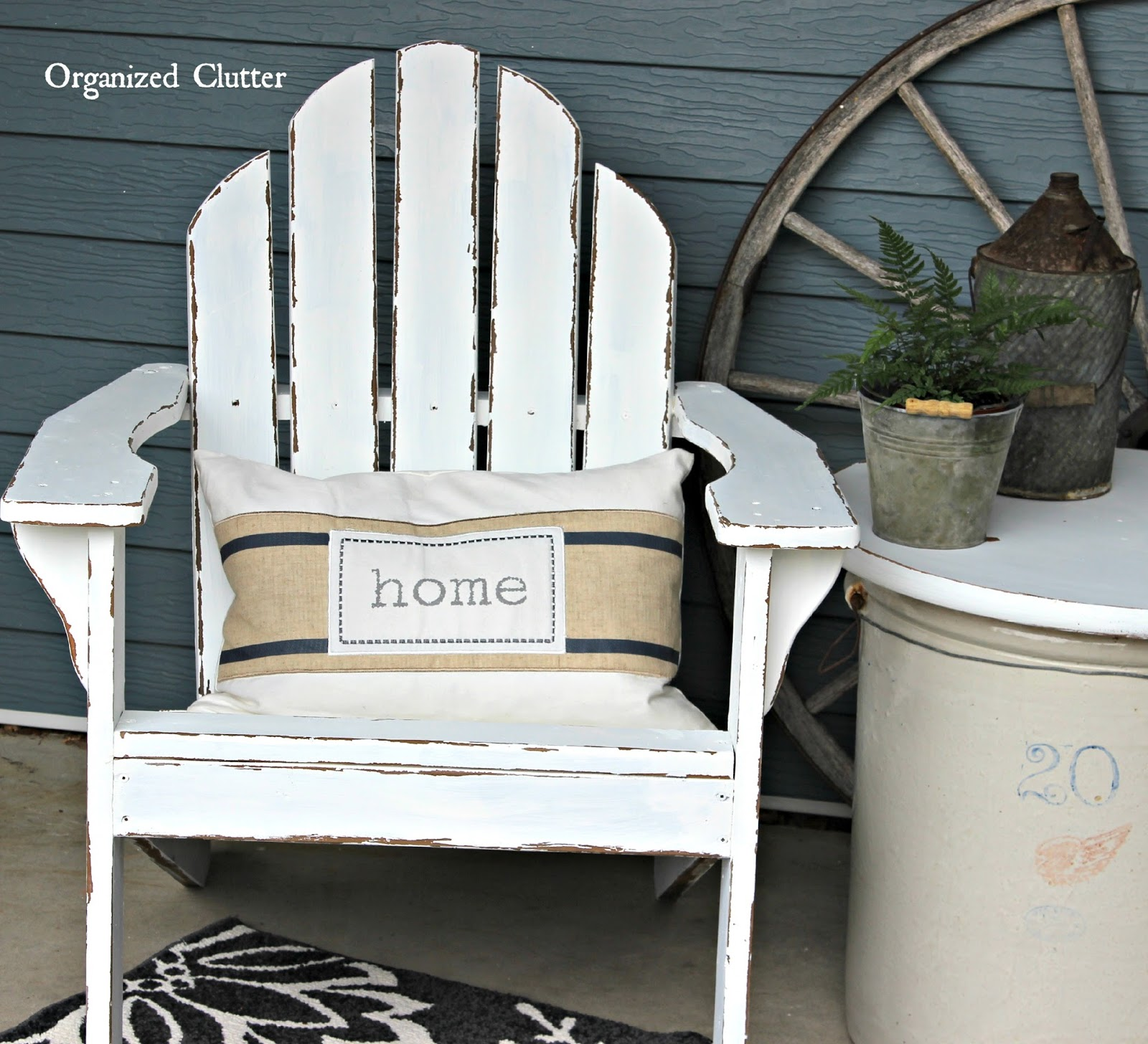 Distressed Adirondack Chairs Hanging Chair Making Authentically Chippy With