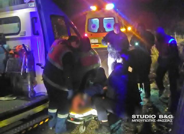 Εκτροπή αυτοκινήτου με τραυματισμό τη νύχτα στα Πυργιώτικα Ναυπλίου