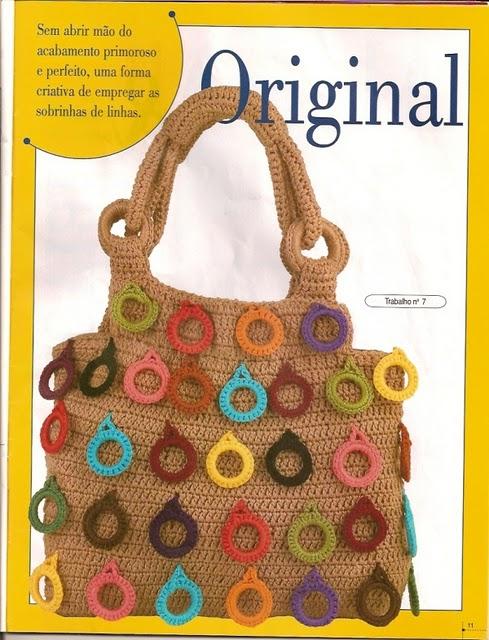 Bolso de Crochet con Anillas de Adorno