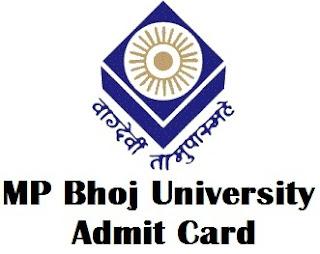 MP Bhoj Open University Bhopal Admit Card 2017