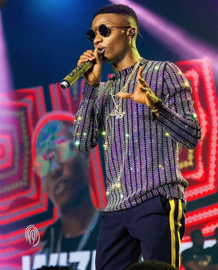 See How Much The Shirt Wizkid Wore For His Concert Cost (Photos)