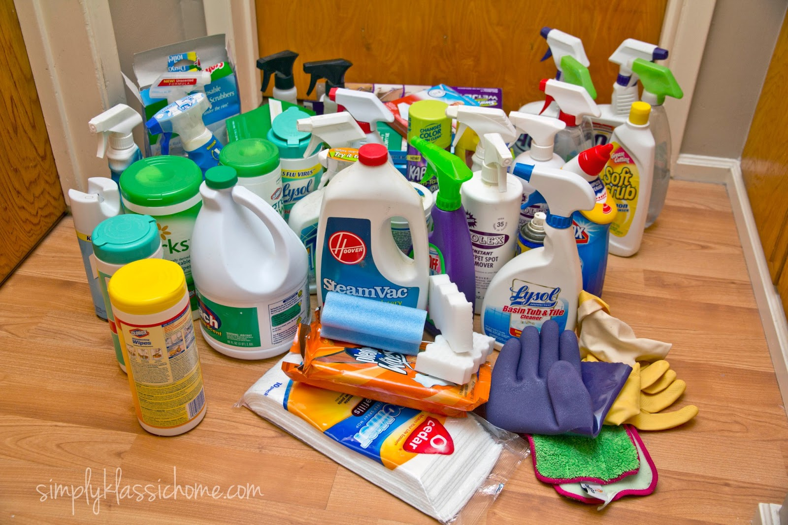 Simply Organized: Organizing the Cleaning Closet - Yellow ...