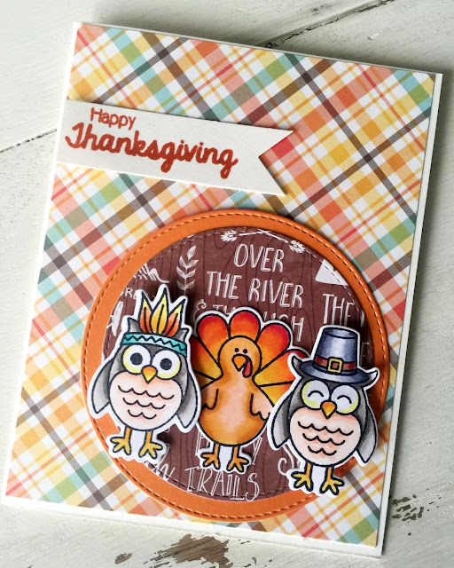 Sunny Studio Stamps: Harvest Happiness Customer Card by Julene VanKleeck