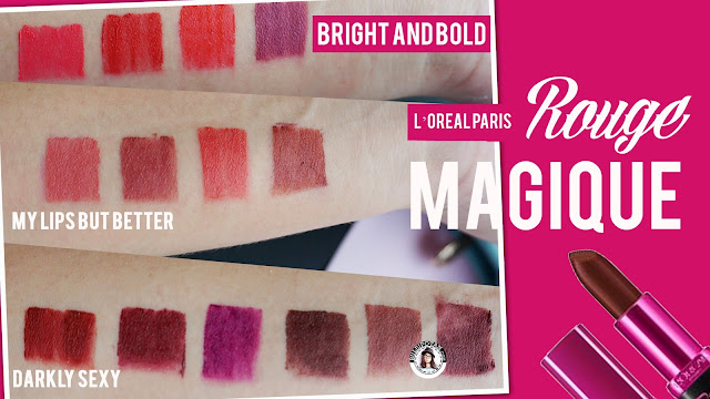 Full+Swatch+L'OREAL+PARIS+ROUGE+Magique+Matte+Lipstick