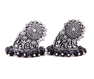 Timeless Black Jhumkis-Earring-Earrings Online Shopping Store India-History-AG_ER000880_BLK