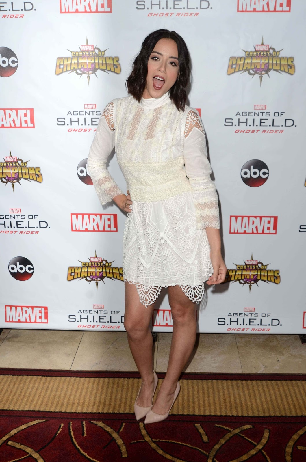 Chloe Bennet at Agents of S.H.I.E.L.D Season Four Premiere