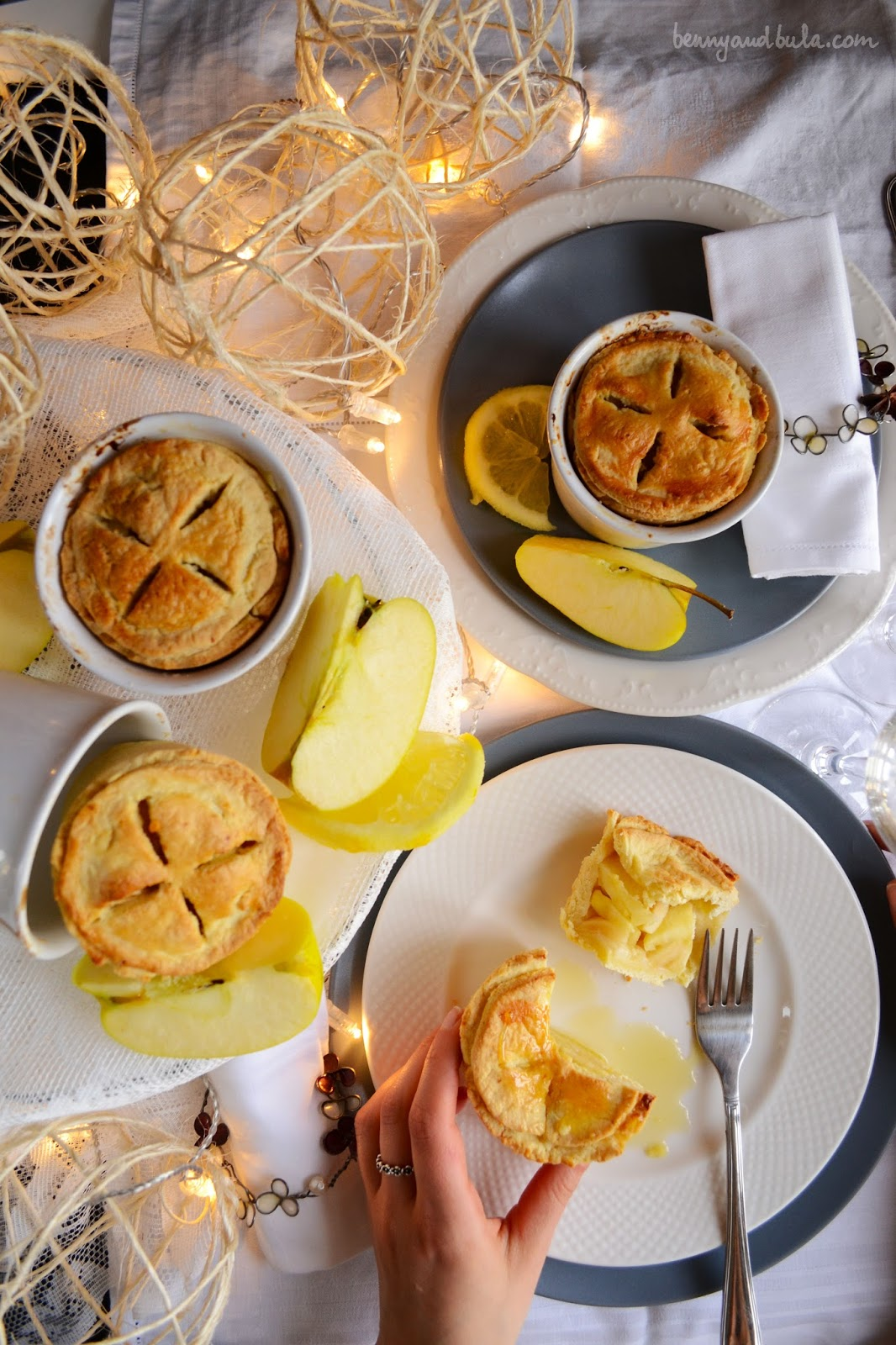 ricetta mini lemon apple pie con mele e limone
