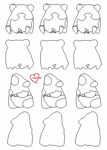 Loving Creations For You Hamster Macarons Template Provided