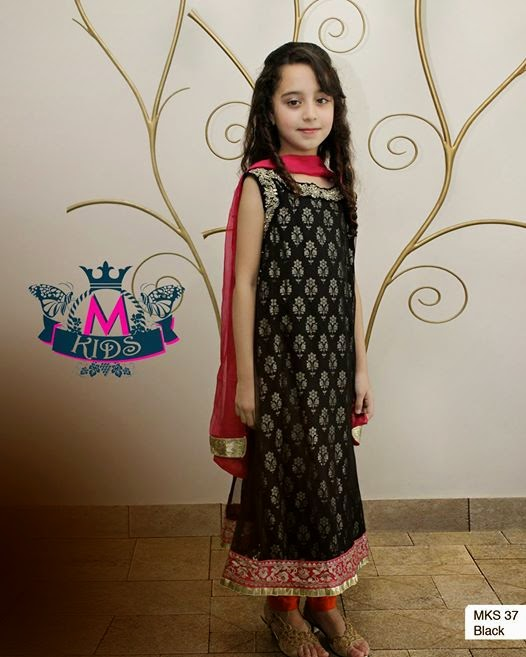 e2070a1ca Maria B Stitched Eid Collection 2014 Volume 2 For Kids | Fashion Galaxy