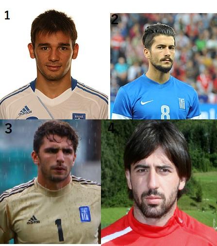 1. Sotiris Ninis; 2. Panagiotis Kone; 3. Stefanos Kapino; 4. Andreas Tatos
