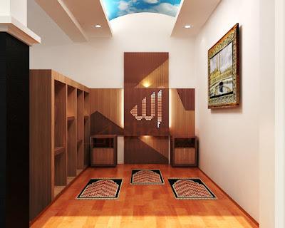cara dekorasi mushola dalam rumah bertema shabby chic