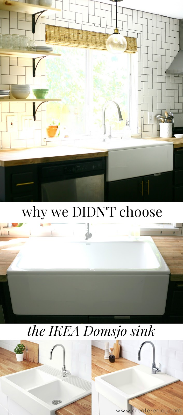 Why We Didn T Chose The Ikea Domsjo Havsen Sink For Our Farm Sink Kitchen Update Create Enjoy