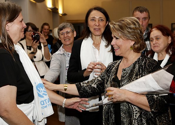 Grand Duchess Maria Teresa visited Stop Poverty: Acting for Dignity exhibition held by ATD Quart Monde in Luxembourg