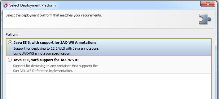 Create POJO based JAX-WS WebService easily with Jdeveloper 12 1 3