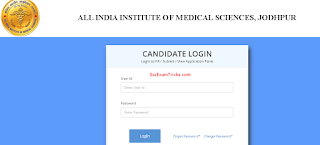 AIIMS Jodhpur admit card
