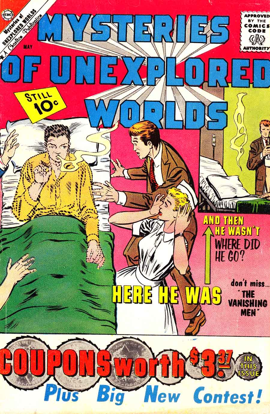 Mysteries of Unexplored Worlds v1 #24 charlton comic book cover art by Steve Ditko