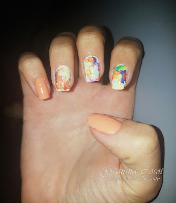 Nail Art Beautiful Flowers & Autumn Leafs