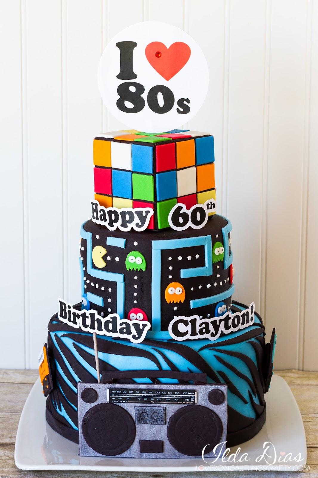 80s Themed Cake Bonus Timlapse Videos