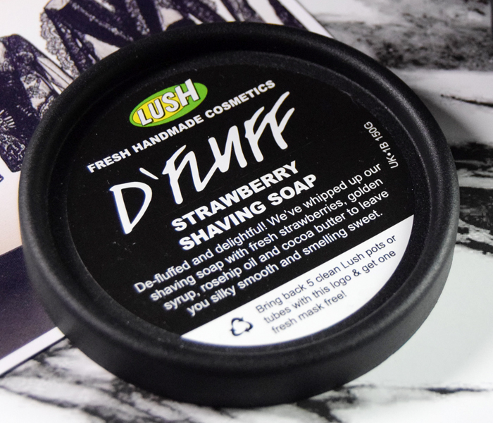 Lush D'Fluff Strawberry Shaving Soap