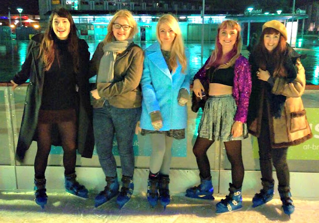 Female Ice Skating Group