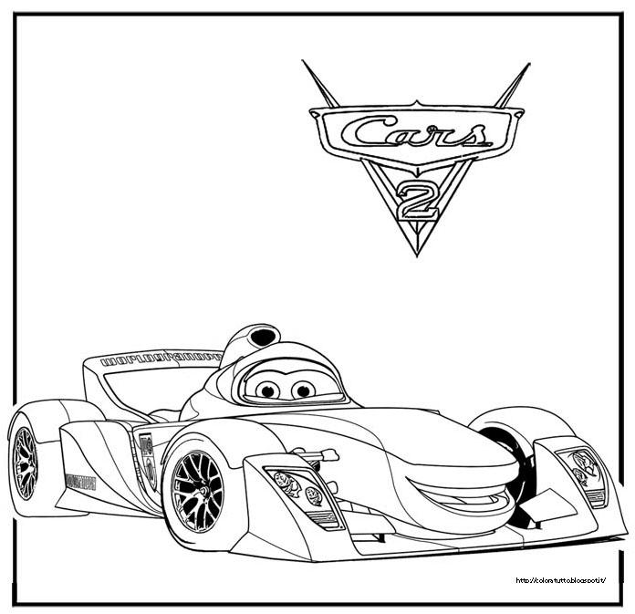 Cars 2 Disegno Da Colorare N.3