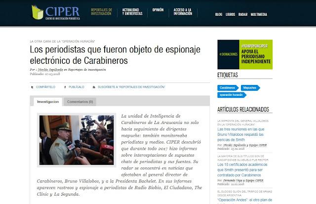 Declaración: Colegio rechaza espionaje a periodistas denunciado por CIPER