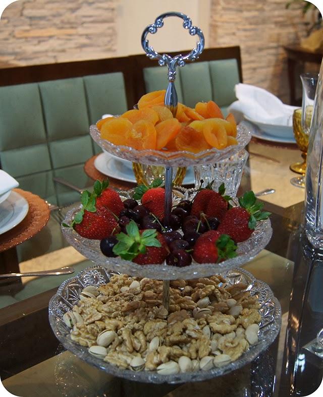 Decoração Ano Novo : Mesa do Réveillon : Frutas e Castanhas