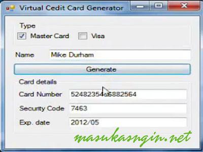 Create and Generate Fake Credit Card