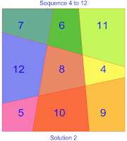 order 3 area magic square solution 2 sequence 4 to 12