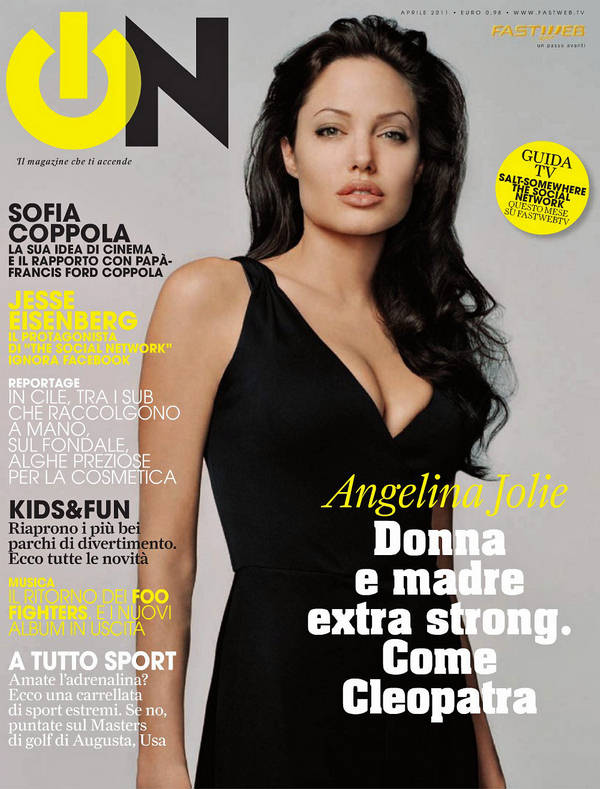 Jolie Magazine November 2017 Issue: Angelina Jolie Features On The Cover Of ON Italy, April 2011