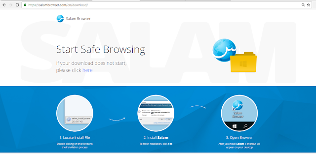 Pelayar web patuh syariah, salam browser, safe browsing,