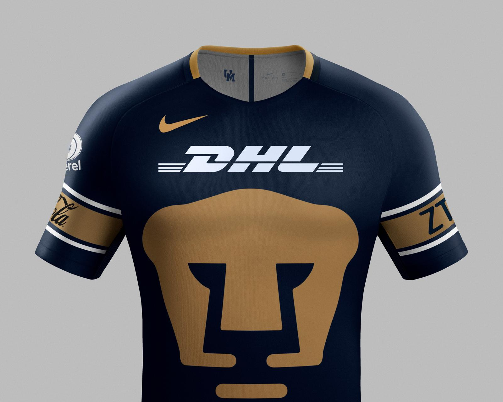 Outstanding Pumas UNAM 17-18 Home - 125.3KB