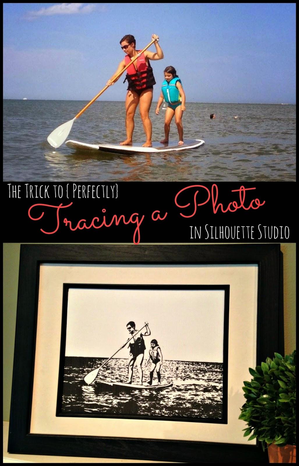 Silhouette Studio, trace, photo, Silhouette tutorial